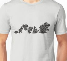 Reptilian Evolution in The Mushroom Kingdom Unisex T-Shirt
