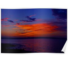 Sunset over Anglesey Poster