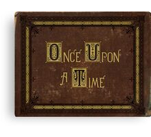 Once Upon A Time Book Canvas Print