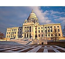 Rhode Island State House - South Facade Photographic Print