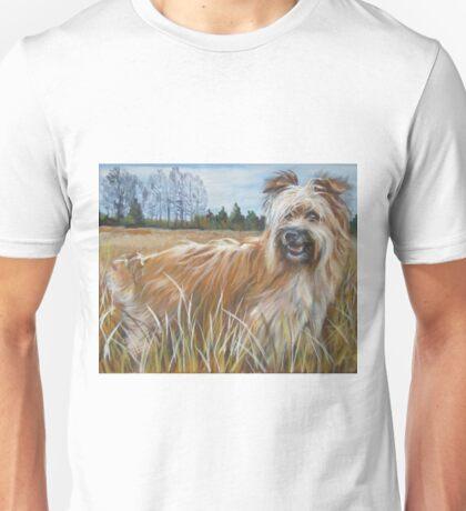 Pyrenean Shepherd Fine Art Painting Unisex T-Shirt