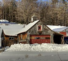 Winter Barn by Monica M. Scanlan