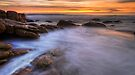 Sunrise at The Friendly Beaches, Tasmania by Michael Treloar