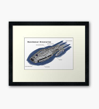 Battlestar Enterprise NX-1701-F Framed Print