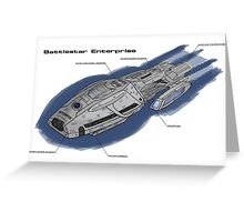 Battlestar Enterprise NX-1701-F Greeting Card