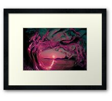 sun on water Framed Print