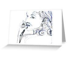 Kel Blue - 30 second Scribble Greeting Card