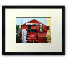 The Jamieson and Woodspoint Chronicle Mural Framed Print
