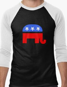 Republican Elephant Men's Baseball ¾ T-Shirt