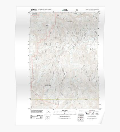 USGS Topo Map Oregon Bagby Hot Springs 20110721 TM Poster