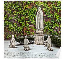 St. Leonard's Peace Garden - Boston, MA Poster