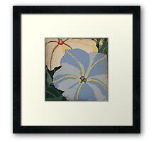 Tropical Blue Flowers Framed Print