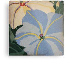 Tropical Blue Flowers Metal Print