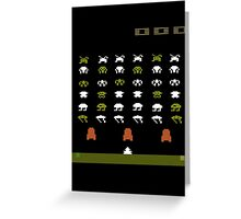 Lost 80s - Where is my Space Invaders? Greeting Card