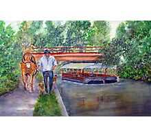 Canal Ride Photographic Print