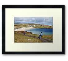 Into the blue - St. John's Peninsula, Donegal Framed Print