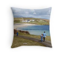 Into the blue - St. John's Peninsula, Donegal Throw Pillow