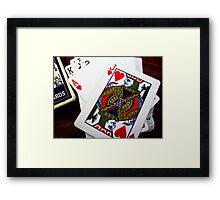 Roulette, Poker, Blackjack -- your choice. Framed Print