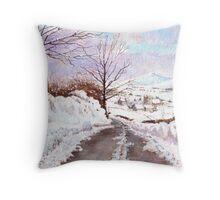 Winter View, Cumbria, UK Throw Pillow