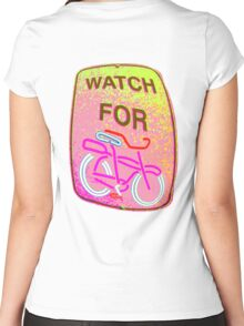 WATCH OUT!!! Women's Fitted Scoop T-Shirt