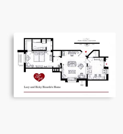 Lucy and Ricky Ricardo's apartment Canvas Print
