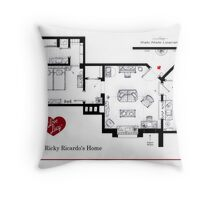 Lucy and Ricky Ricardo's apartment Throw Pillow
