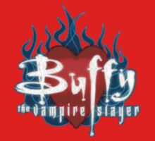 Buffy Flaming Heart One Piece - Long Sleeve