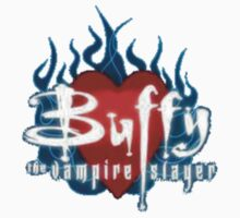 Buffy Flaming Heart One Piece - Short Sleeve