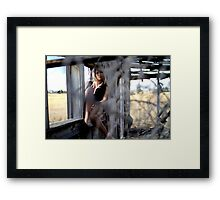 window shopping Framed Print