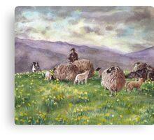 Cumbrian Fells, Eden Valley Canvas Print
