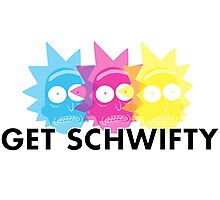 GET SCHWIFTY (CMYK) Photographic Print