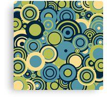 Circledelic - blue/green Canvas Print