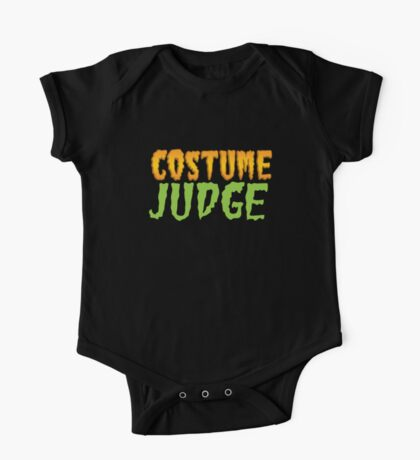 HALLOWEEN funny shirt! COSTUME JUDGE! One Piece - Short Sleeve