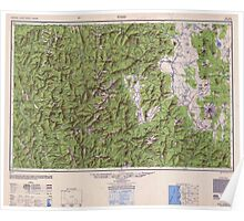 USGS Topo Map California Weed 707676 1950 250000 Poster