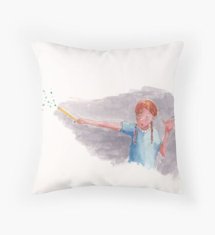 Sophie pointed the wand in my direction Throw Pillow