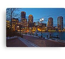 Harbor View After Dark - Boston, MA Canvas Print