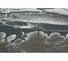 Alone on beach  Photographic Print