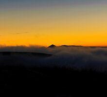 Mt. Keilir at dusk by Ólafur Már Sigurðsson