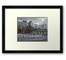 Frog Pond - Boston, MA Framed Print
