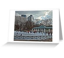 Frog Pond - Boston, MA Greeting Card