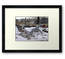 He Ate the Mail... Framed Print