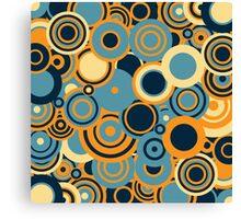 Circledelic - blue/orange Canvas Print
