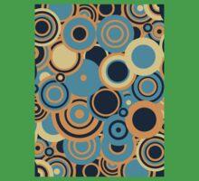 Circledelic - blue/orange Kids Tee