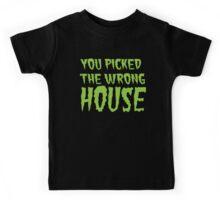 YOU PICKED THE WRONG HOUSE! creepy Halloween door costume Kids Tee