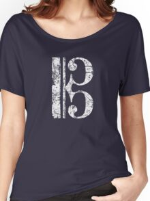 Alto Clef, Viola Key, Tenor Clef Vintage White Women's Relaxed Fit T-Shirt