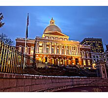 Massachusetts State House - After Dark Photographic Print