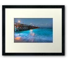 The Pier HDR Framed Print