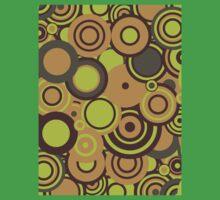 Circledelic - mint/choc/orange Kids Tee