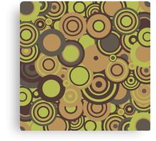 Circledelic - mint/choc/orange Canvas Print