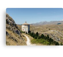 Italian Monuments - In that quiet Earth - Rocca Calascio Canvas Print